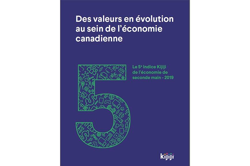 L'Observatoire de la consommation responsable dévoile la 5e édition de l'Indice Kijiji d'économie de seconde main