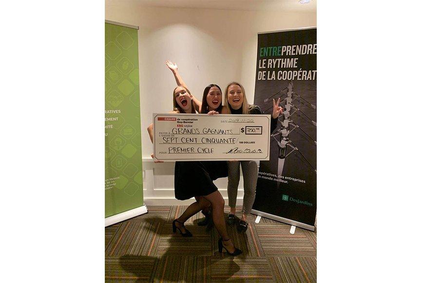 Une équipe de l'ESG UQAM remporte la 1re position au Concours de cas COOP 2019