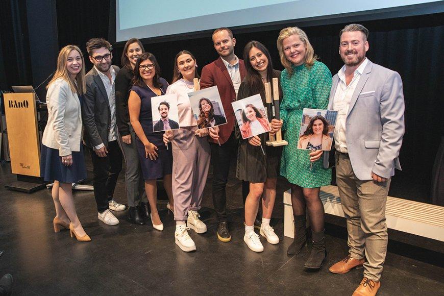 Étudiants-es ayant remporté le concours Relève Communication 2019 de l'A2C