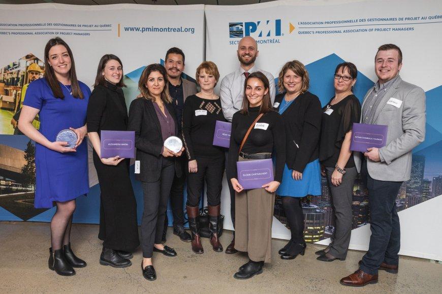 PMI-Montréal : Des étudiant.e.s et des diplômées de l'ESG UQAM sont récompensé.e.s