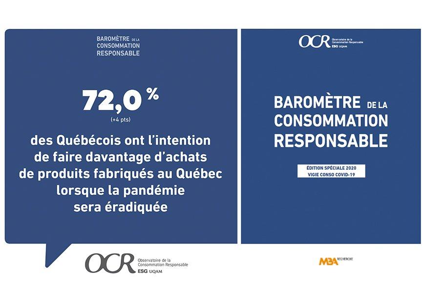 Baromètre 2020 de l'Observatoire de la consommation responsable de l'ESG UQAM