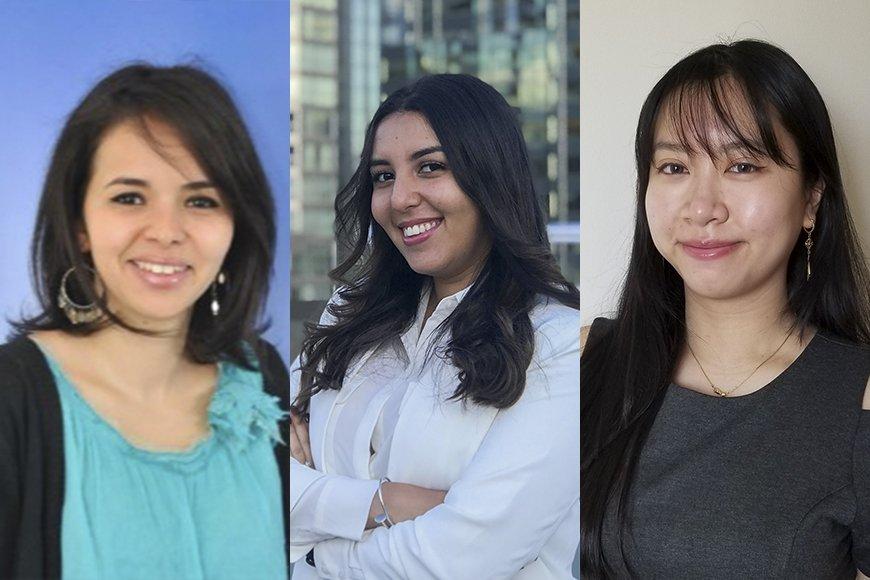 Selma Cheurif, Lina El Cadi et Ngoc Van Tran