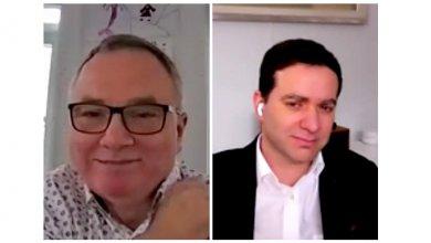 Le professeur Maher Kooli et l'entrepreneur Luc Filiatreault s'entretiennent dans le cadre d'un webinaire sur les enjeux du monde des affaires