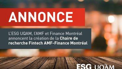 Création d'une nouvelle chaire de recherche en finance pour l'ESG UQAM